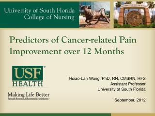 Predictors of Cancer-related Pain Improvement over 12 Months