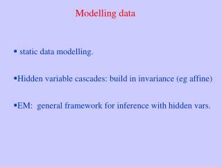 Modelling data