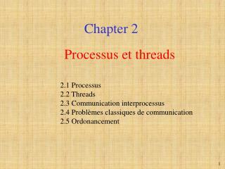 Processus et threads