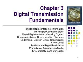 Chapter 3  Digital Transmission Fundamentals