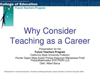 Why Consider Teaching as a Career