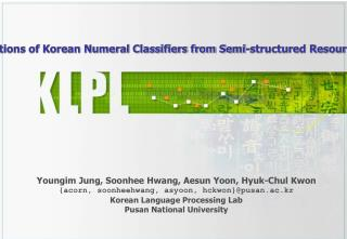 Extracting Ontological Relations of Korean Numeral Classifiers from Semi-structured Resources Using NLP techniques