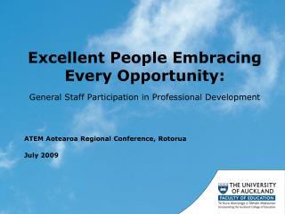 ATEM Aotearoa Regional Conference, Rotorua