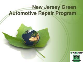 New Jersey Green  Automotive Repair Program