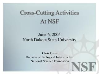 Cross-Cutting Activities At NSF