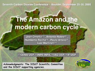 Seventh Carbon Dioxide Conference – Boulder, September 25-30, 2005