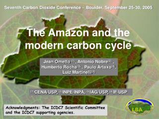 Seventh Carbon Dioxide Conference – Boulder, September 25-30, 2005
