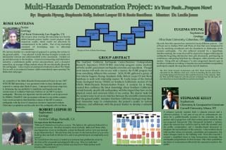 Multi-Hazards Demonstration Project:  It's Your Fault…Prepare Now!