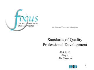Standards of Quality Professional Development