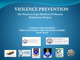 VIOLENCE PREVENTION the Western Cape Burden of Disease Reduction Project
