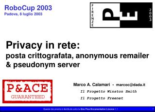 RoboCup 2003 Padova,  8 luglio 2003