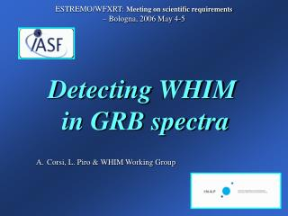 Detecting WHIM  in GRB spectra