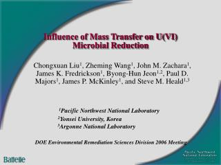 Influence of Mass Transfer on U(VI) Microbial Reduction