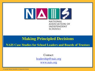 Contact:  leadership@nais nais