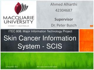 Skin Cancer Information System - SCIS