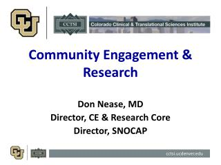 Community Engagement & Research