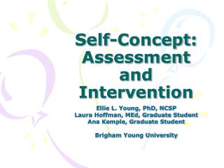 Self-Concept: Assessment and Intervention