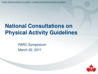 National Consultations on Physical Activity Guidelines