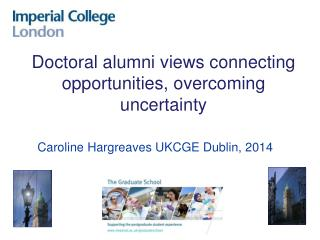 Caroline  Hargreaves UKCGE  Dublin, 2014