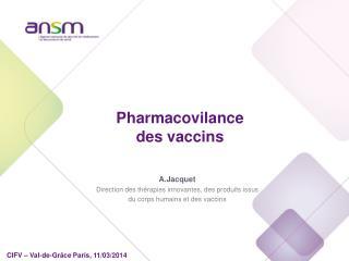 Pharmacovilance des vaccins