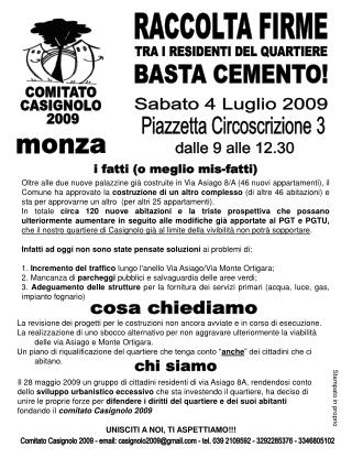 COMITATO  CASIGNOLO  2009