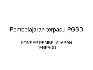 Pembelajaran terpadu PGSD