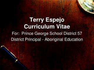 Terry Espejo Curriculum Vitae