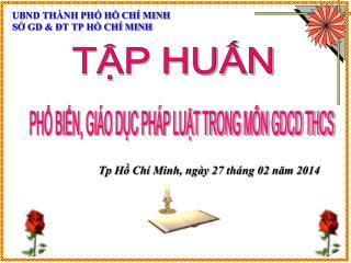 UBND THÀNH PHỐ HỒ CHÍ MINH SỞ GD & ĐT TP HỒ CHÍ MINH