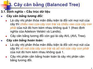 3. Cây cân bằng (Balanced Tree)