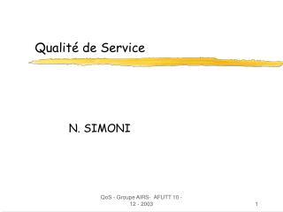 Qualit� de Service