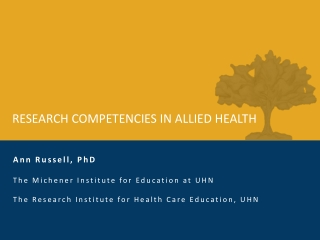 Research Ethics in the Allied Health Professions