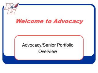 Welcome to Advocacy