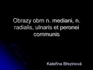 Obrazy obrn n. mediani, n. radialis, ulnaris et peronei communis
