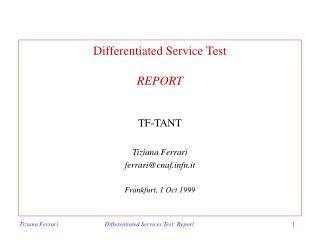Differentiated  Service Test REPORT