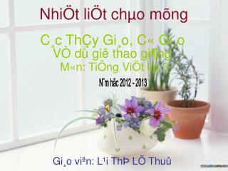 Nhi�t li�t ch�o m�ng