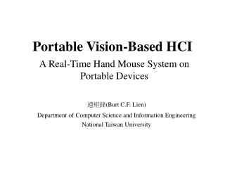 Portable Vision-Based HCI