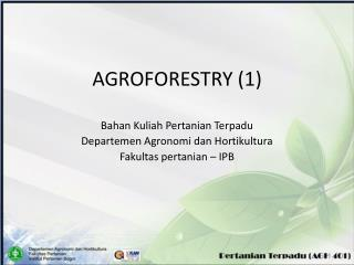 AGROFORESTRY (1)