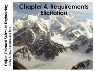 Chapter 4, Requirements Elicitation