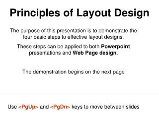 Principles of Layout Design