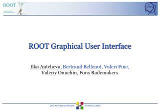 ROOT Graphical User Interface