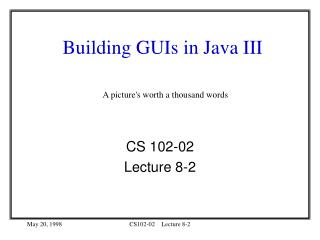 Building GUIs in Java III