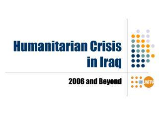 Humanitarian Crisis in Iraq