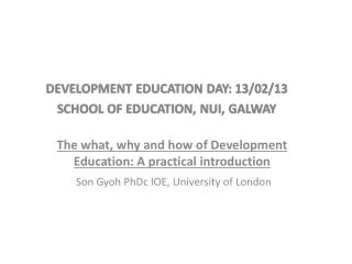 The what, why and how of Development Education: A practical introduction