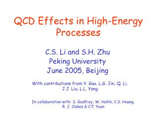 QCD Effects in High-Energy Processes