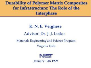Durability of Polymer Matrix Composites for Infrastructure: The Role of the Interphase