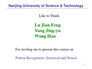 Nanjing University of Science & Technology