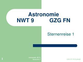 Astronomie  NWT 9GZG FN