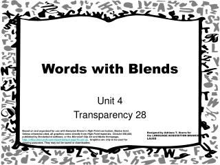 Words with Blends