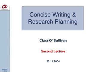 Ciara O' Sullivan Second Lecture 23.11.2004