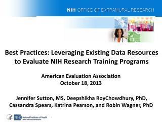 American Evaluation Association  October 18, 2013